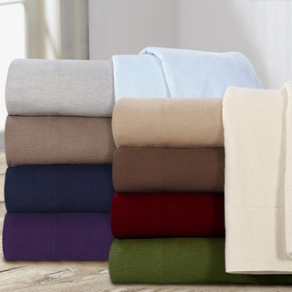Ultra-soft 5-ounce Solid Flannel Pillowcases (Set of 2)