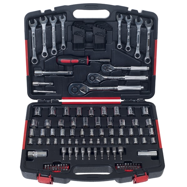 Stalwart 135 pc Mechanic Tools Socket Set 1/4, 3/8 and 1/2 Drive