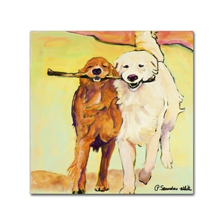 Pat Saunders-White 'Stick with Me' 26x26 Canvas Wall Art