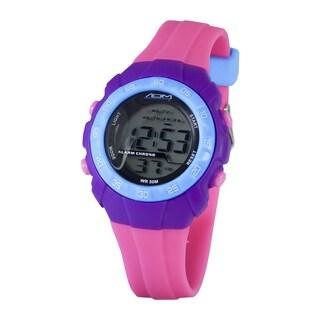 American Design Machine Pink and Purple Digital Watch