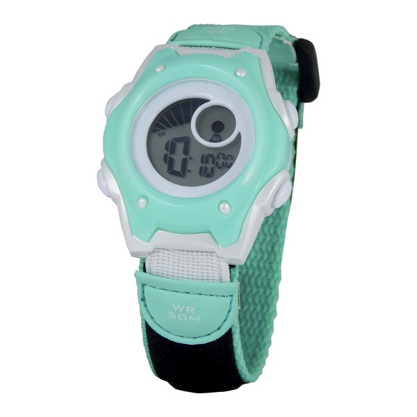 American Design Machine Kids Hudson Blue Digital Watch