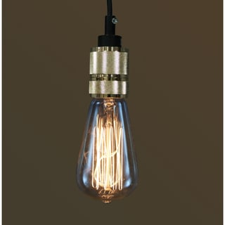 Miho 1-light Gold Adjustable Cord Edison Lamp with Bulb