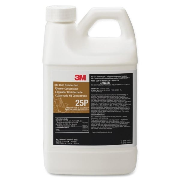 3M HB Quat Disinfectant Cleaner Concentrate - 1/EA