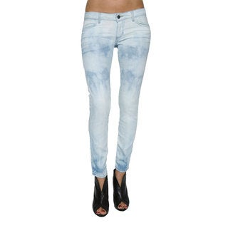 Women's Light Blue Skinny Crop Jeans
