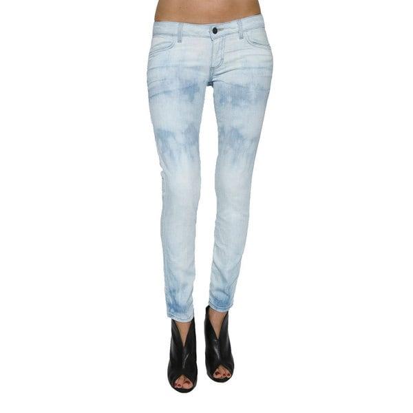 Women's Light Blue Skinny Crop Jeans