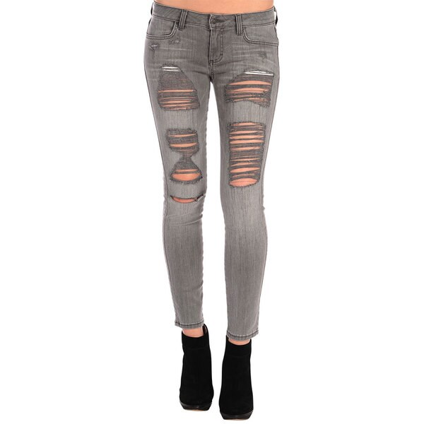 Siwy Women's 'Hannah' Destroyed Skinny Crop Jeans