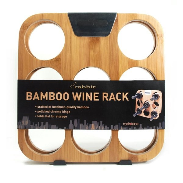 Metrokane Rabbit Bamboo Wine Rack