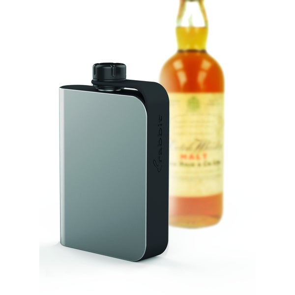 Metrokane Stainless Steel Rabbit Hip Flask