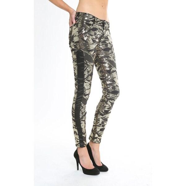 Siwy Women's 'Hannah' Skinny Crop Sequin Jeans