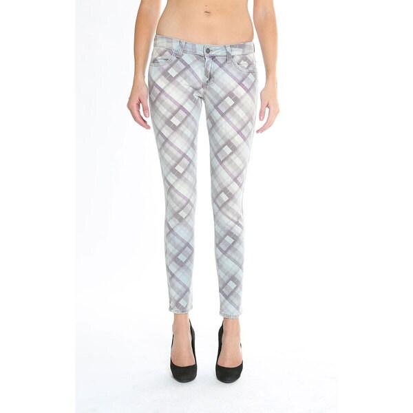 Siwy Women's 'Hannah' Skinny Crop Crisscross Print Jeans