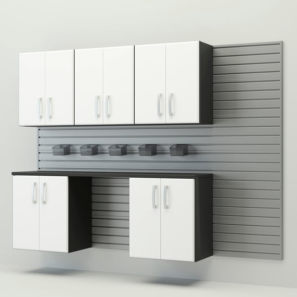 Flow Wall Complete Workstation Silver