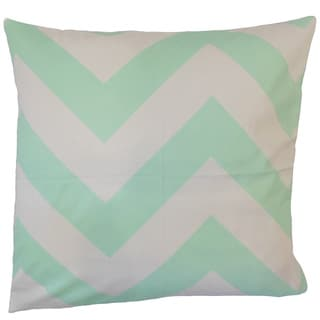 Ocheckka Chevron 18-inch Feather and Down Filled Throw Pillow