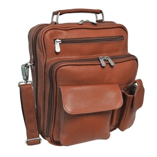 Piel Leather Multi-Compartment Travel Tote Bag