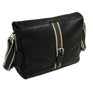 Piel Leather European Messenger Bag
