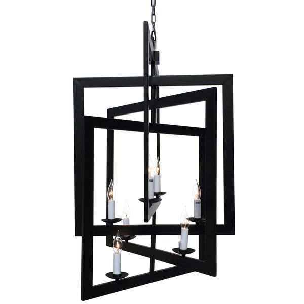 Black 3D Square Chandelier
