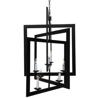 Black 3D Square Chandelier