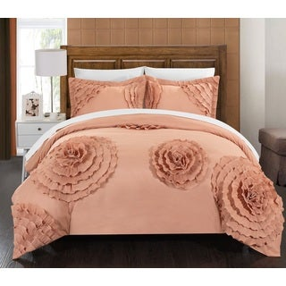 Chic Home Marissa Peach 3-piece Duvet Cover Set