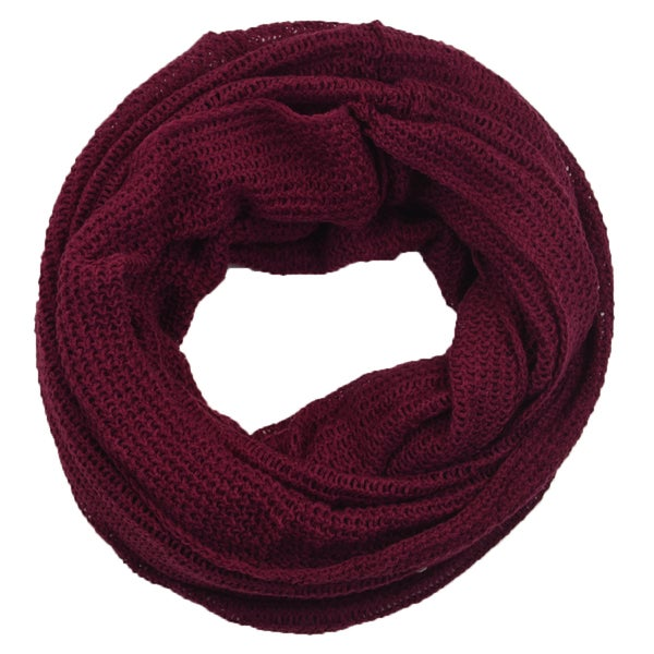 Honeycomb Knit Infinity Scarf