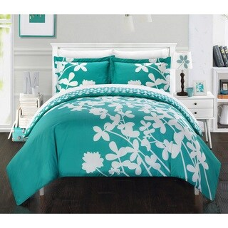 Chic Home Casa Blanca Turquoise Reversible 7-piece Duvet Cover Set