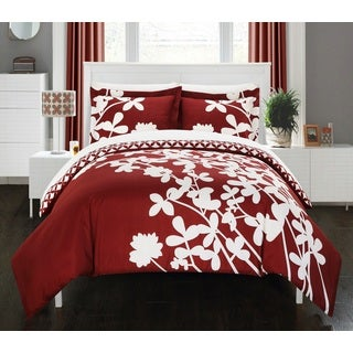 Chic Home Casa Blanca Red Reversible 7-piece Duvet Cover Set