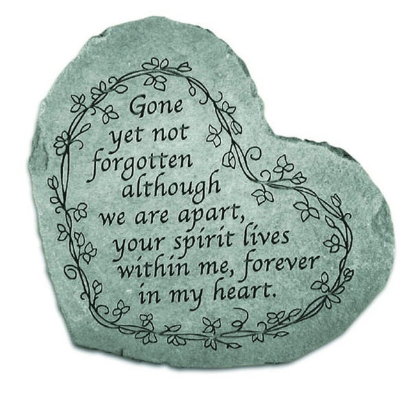 Kay Berry 'Gone Yet Not Forgotten' Garden Acccent Stone