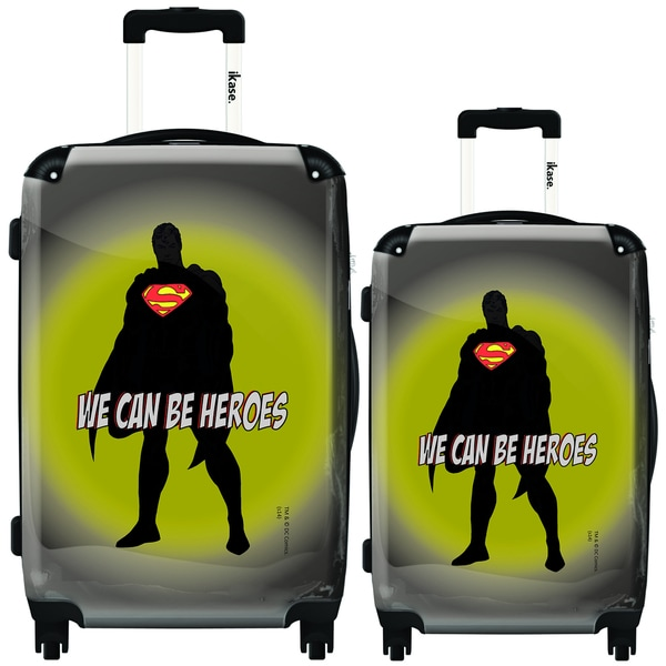 iKase Superman 'We Can be Heroes' 2-piece Hardside Spinner Luggage Set