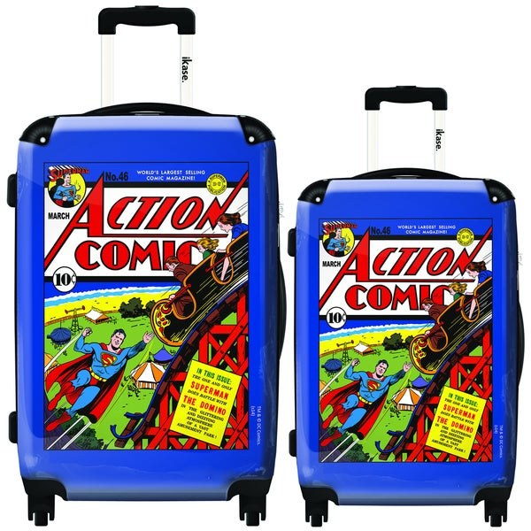 iKase Superman/ The Devils Playground 2-piece Hardside Spinner Luggage Set