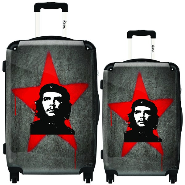 iKase Che Guevara Red 2-piece Hardside Spinner Luggage Set