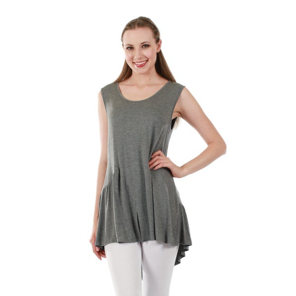 Firmiana Women's Sleeveless Grey Tunic