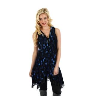 Firmiana Women's Sleeveless Ruffle Sidetail Tunic