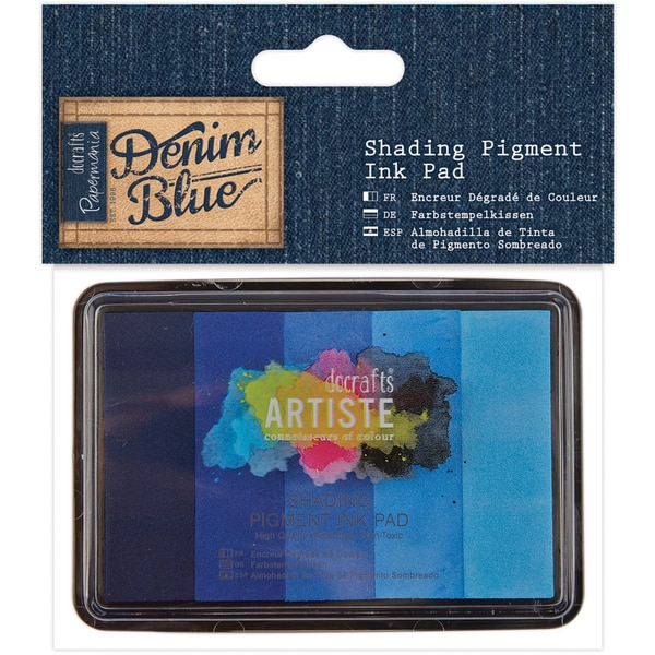 Artiste Shading Pigment Ink Pad 5/Pkg-Denim