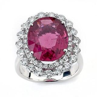Neda Behnam DFAC 18k White Gold Pink Tourmaline 1 1/2ct TDW Diamond Cocktail Ring (G-H, SI1-SI2)