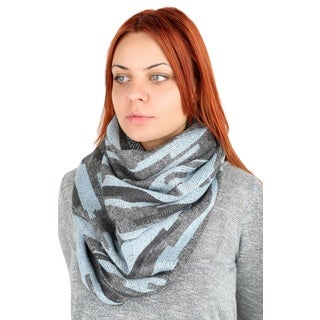 Tahari Women's Light Blue Gray Lurex Stold
