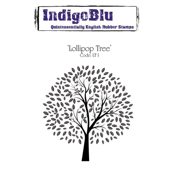 "IndigoBlu Cling Mounted Stamp 5""X4""-Lollipop Tree"