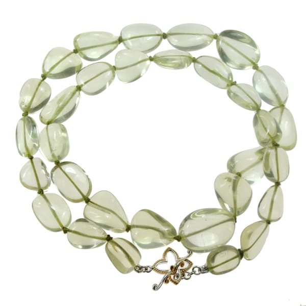 """One-of-a-kind Michael Vallituti 22"""" Ouro Verde Gemstone Necklace"""
