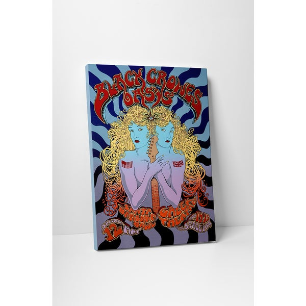 'Black Crowes Oasis' Gallery Wrapped Canvas Wall Art