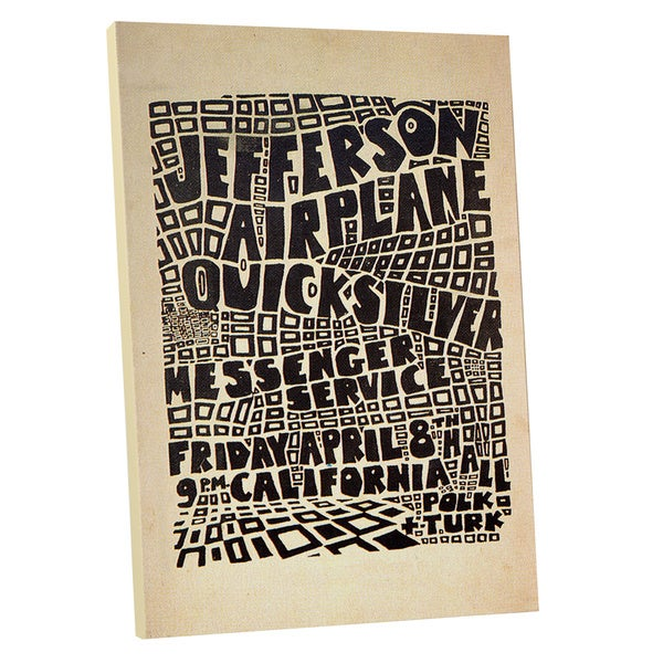 'Jefferson Airplane' Gallery Wrapped Canvas Wall Art