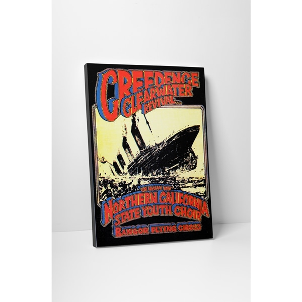 'Creedence Clearwater Revival' Gallery Wrapped Canvas Wall Art