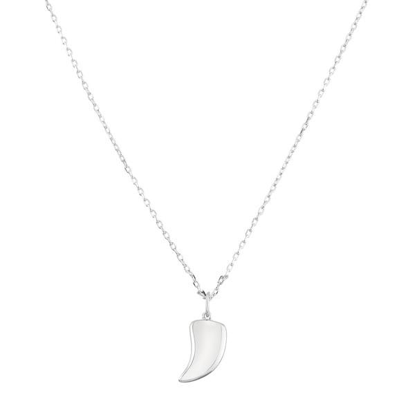 La Preciosa Sterling Silver Small Shark Tooth Necklace 16838031