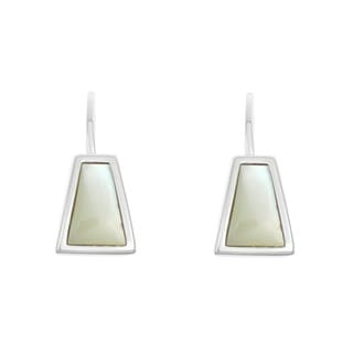 La Preciosa Sterling Silver Small Mother of Pearl Triangle Earrings