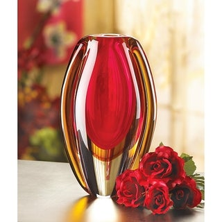 Fireblaze Glass Vase