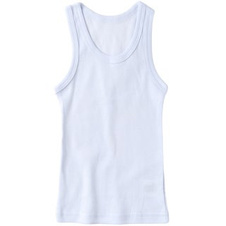 Sportoli Boys Ultra Soft Cotton White Tank Top Undershirts