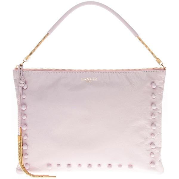 Lanvin Beaded Lambskin Lavender Clutch Bag