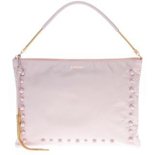 Lanvin Beaded Lambskin Lavender Clutch Bag