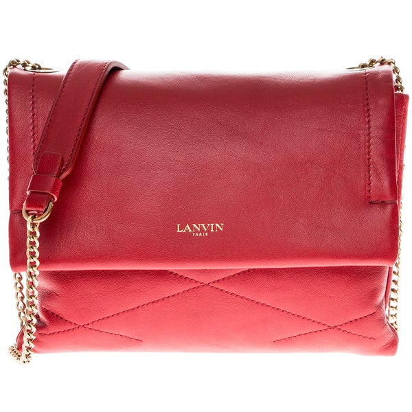 Lanvin Red Mini Leather Sugar Bag