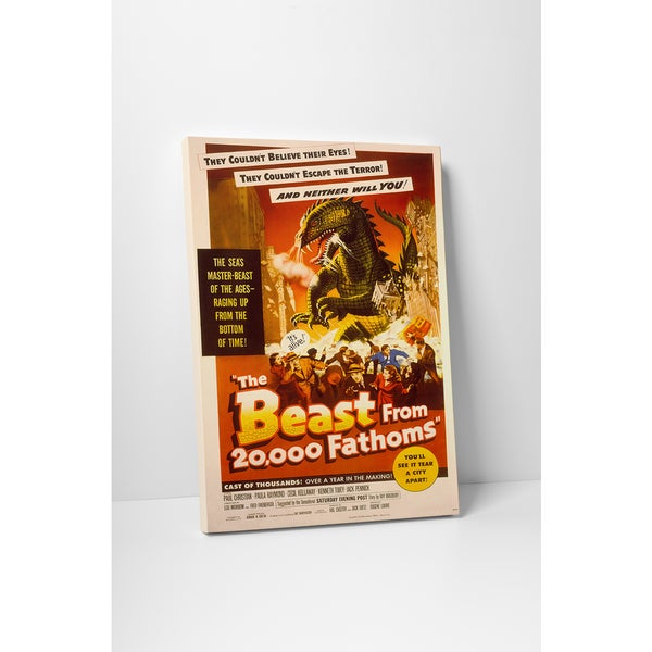 'The Beast From 20,000 Fathoms' Gallery Wrapped Canvas Wall Art
