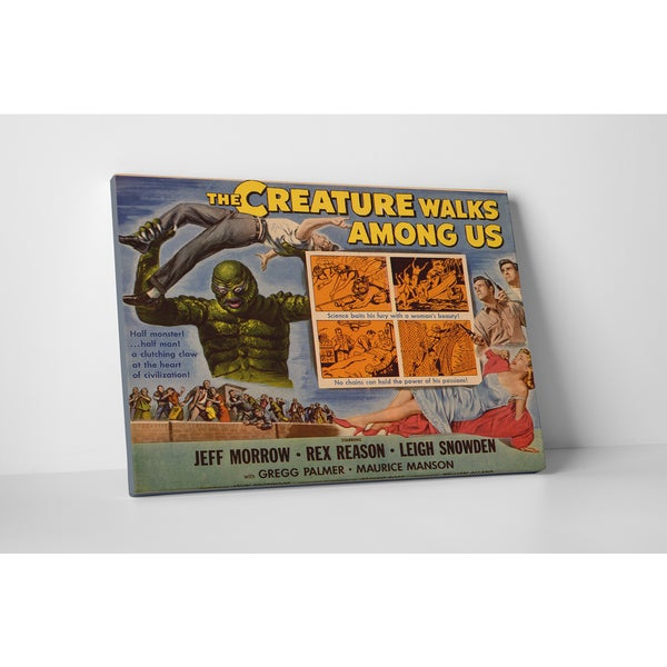 'The Creature Walks Amoung Us' Gallery Wrapped Canvas Wall Art