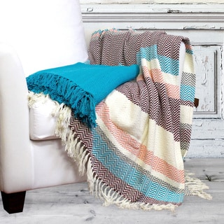 100-percent Cotton Throw Chevron Glow (Set of 2)