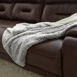 Faux Fur Reverse to Sherpa Throw