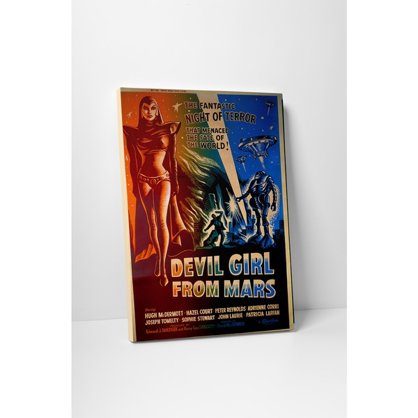 'Devil Girl From Mars' Gallery Wrapped Canvas Wall Art